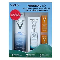 Bộ Sản Phẩm Phục Hồi Và Bảo Vệ Cho Da Căng Mịn Rạng Rỡ Vichy Mineral 89 VVN00211