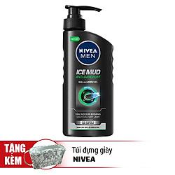 Dầu Gội Bùn Khoáng Sạch Gàu Mát Lạnh Nivea Men Ice Mud Anti Dandruf Shampoo (530ml) - 82770