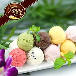 [Siêu Shock] Fanny Ice Cream - Voucher 01  Phần kem viên và ốc quế trị giá 65k, Áp Dụng 10 Chi Nhánh