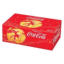 Thùng 24 Lon Nước Giải Khát Có Gas Coca-Cola Tết (330ml / Lon)
