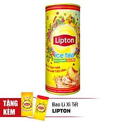 Hộp Quà Dạng Đứng Trà Hòa Tan Lipton Vị Chanh Và Đào (16 Gói x 14g)
