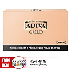 Thực Phẩm Chức Năng Tinh Chất Làm Đẹp Adiva Collagen Gold (30ml x 14 Lọ / Hộp) - Tặng Hộp 6 Mặt Nạ (Giao Ngẫu Nhiên)