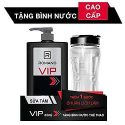Sữa Tắm Romano VIP (650g) - Tặng Bình Nước Thể Thao 1L