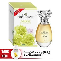 Nước Hoa Enchanteur Delightful (15ml) - Tặng Dầu Gội Charming (100g)