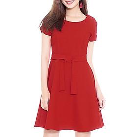 Đầm Xòe Nhấn Eo Thời Trang Eden D116D -  Màu Đỏ