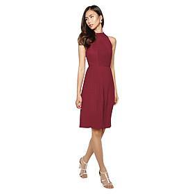Đầm Yếm Ren Xếp Ly La Belle D221 - Đỏ Đô