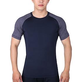 Áo Tập Gym Nam Tay Ngắn Body Unique Apparel ABTNRDY - Đen Phối Xám