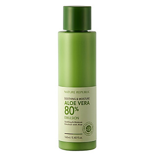 Sữa Dưỡng Lô Hội Làm Mềm Và Cấp Ẩm Nature Republic Soothing & Moisture Aloe Vera 80% Emulsion (160Ml)
