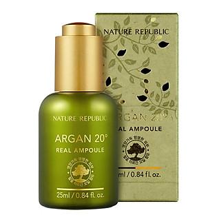 Tinh Chất Dưỡng Cấp Ẩm Sâu Nature Republic Argan 20º Real Squeeze Ampoule (25Ml)