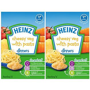 Combo 2 Hộp Bột Ăn Dặm Vị Mỳ Ý Rau Củ Phô Mai Heinz (100G)