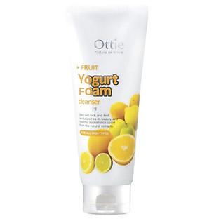 """Sữa Rửa Mặt  Trắng Da, Chống Mụn Yogurt Chanh Ottie Fruit Yogurt Foam Cleanser Lemon - 0502 (150Ml)"""