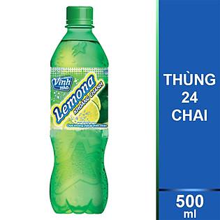 Thùng 24 Chai Nước Khoáng Chanh Lemona 500Ml