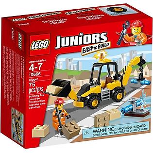 Mô Hình LEGO Juniors Máy Đào (75 Mảnh Ghép) - 10666