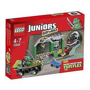 Mô Hình LEGO Juniors Căn Cứ Rùa (107 Mảnh Ghép) - 10669