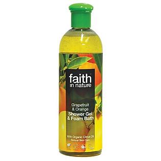 Gel Tắm Làm Trắng Vitamin E Từ Cam Và Bưởi Faith In Nature 10GR (400Ml)