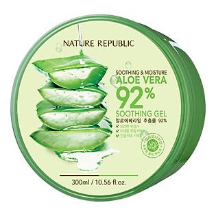 Gel Lô Hội Nature Republic Soothing & Moisture Aloe Vera 92% Soothing Gel (300Ml)
