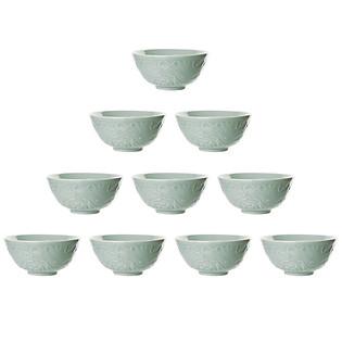 Combo 10 Chén Ngọc Hoa Sen Xanh  (11.5 X 5.3 Cm)