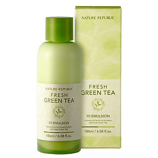 Sữa Dưỡng Tinh Chất Trà Xanh Nature Republic Fresh Green Tea 70 Emulsion (180Ml)