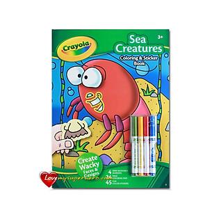 Bộ Bút Lông 4 Màu Và Giấy Tô Màu 2 Mặt Crayola - 041903A000