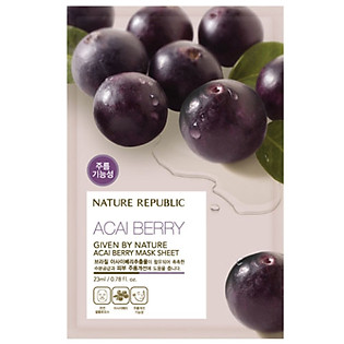 Mặt Nạ Đắp Từ Trái Acai Berry Nature Republic Real Nature Acai Berry Mask Sheet