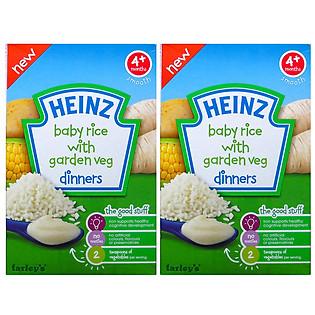 Combo 2 Hộp Gạo Và Rau Củ Xay Nhuyễn Heinz (125G)