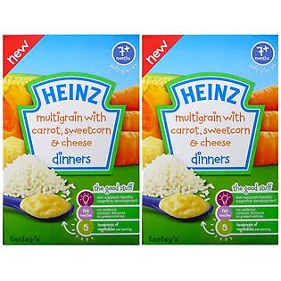 """""""Combo 2 Hộp Ngũ Cốc Cà Rốt, Phô Mai Và Bắp Ngọt Nghiền Heinz (100G)"""""""