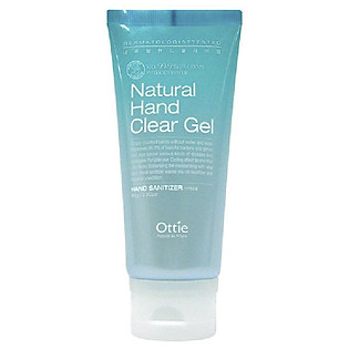 Gel Rửa Tay Diệt Khuẩn Ottie Natural Hand Clear Gel - 1501 (80Ml)