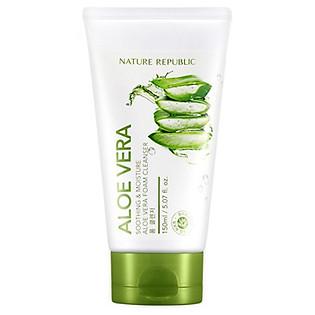 Sửa Rửa Mặt Dưỡng Ẩm Nature Republic Soothing & Moisture Aloe Vera Foam Cleanser (150Ml)