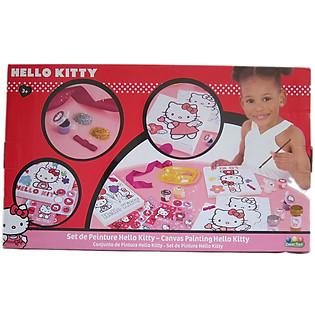 Bộ Đồ Vẽ Tranh Cabvas Painting Hello Kitty