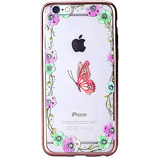 Ốp Lưng Cube Iphone 6/6S Swarovski Blossom - Butterfly Garden