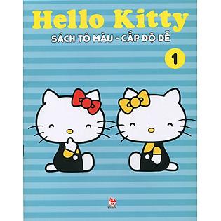 Hello Kitty - Sách Tô Màu Cấp Độ Dễ (Tập 1)