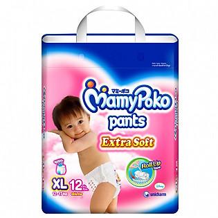 Tã Quần Bé Gái Mamypoko Gói Nhỏ XL12