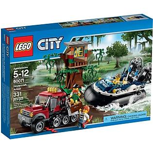 Mô Hình LEGO City - Tàu Đệm Khí Truy Bắt 60071