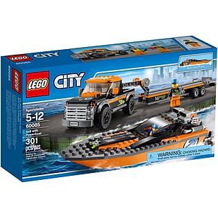 Mô Hình LEGO City - Xe Kéo Và Canô 60085