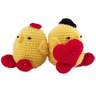 Vịt Valentine Couple WT-018YEL-L Bobicraft (10 X 10 X 5 Cm)