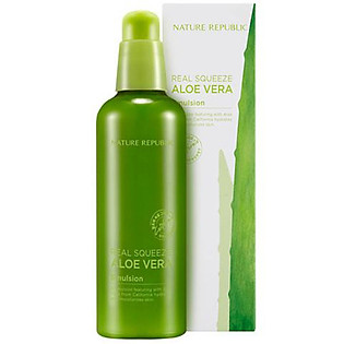 Sữa Dưỡng Da Nature Republic Real Squeeze Aloe Vera Emulsion (125Ml)