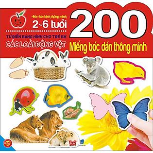 200 Miếng Bóc Dán Thông Minh- Các Loài Động Vật