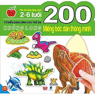 200 Miếng Bóc Dán Thông Minh- Khủng Long