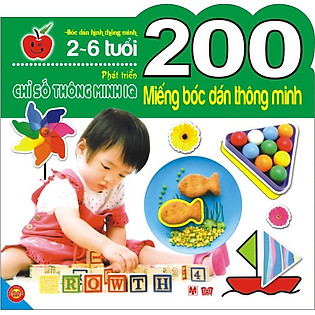 200 Miếng Bóc Dán Thông Minh - Phát Triển Chỉ Số Thông Minh IQ (2-6 Tuổi)