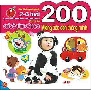 200 Miếng Bóc Dán Thông Minh - Phát Triển Chỉ Số Tình Cảm EQ (2-6 Tuổi)