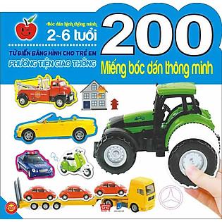 200 Miếng Bóc Dán Thông Minh- Phương Tiện Giao Thông