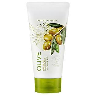 Sữa Rửa Mặt Chiết Xuất Hạt Olive Nature Republic Real Nature Olive Foam Cleanser (150Ml)