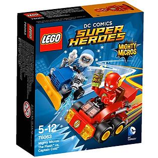 Mô Hình LEGO Super Heroes - Tia Chớp Đại Chiến Đội Trưởng Cold 76063 (88 Mảnh Ghép)