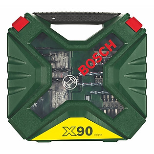 Bộ Mũi Khoan Và Vặn Vít 90 Món Bosch X-Line – 2607010613