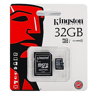 Thẻ Nhớ Microsd Kingston 32GB Class 10 (Kèm Adapter)
