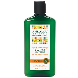 Dầu Gội Andalou Naturals Argan & Sweet Orange Moisture Rich - 27102 (340Ml)