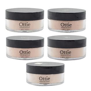Bột Phủ Hút Dầu Tông Màu Beige Có Ánh Kim Ottie Face Powder (20G)