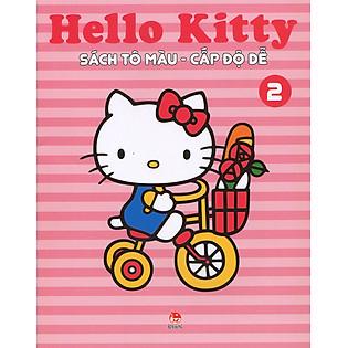 Hello Kitty - Sách Tô Màu Cấp Độ Dễ (Tập 2)