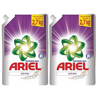Combo 2 Ariel Gel Giặt Đậm Đặc Giữ Màu Túi 1.44L