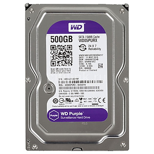 Ổ Cứng Trong PC WD  500GB (64MB) 3.5″ Purple™